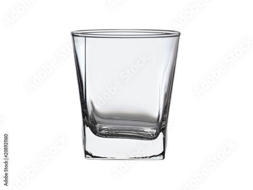 empty glass Cup for alcoholic beverages isolated on white background