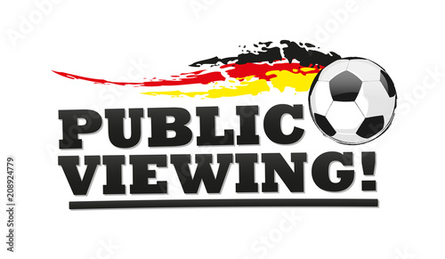 Fussball Public Viewing Deutschland Flagge Buy This Stock