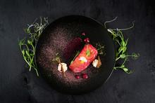 Red Fish Salmon Dish With Sauc...