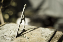 Close Up View Of A Sundial In ...