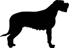 Irish Wolfhound Silhouette Black