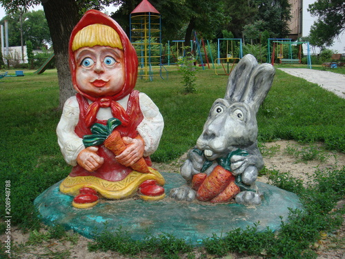 Fairy-tale characters Masha and the rabbit Poster