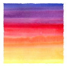 Colorful Watercolor Stains Squ...