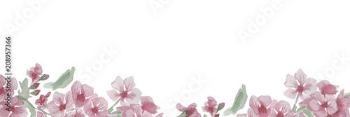 Plissee mit Motiv - Watercolor cherry flower frame (von Anna)
