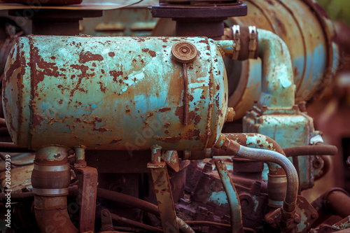 Papiers peints Les vieux bâtiments abandonnés Vintage processed image of abandoned sugar cane factory