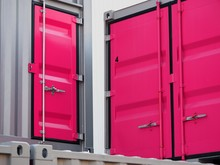 Containers Warehouse Pink Doors