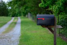 Rural Mailbox Along A Gravel Road