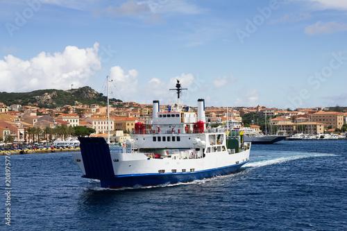 Ferry boat at Sardegna coastline, Italy