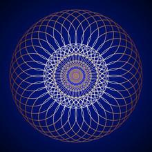 Golden Mandala On Background