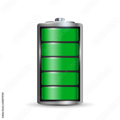 Creative vector illustration of 3d different charging status battery load isolated on transparent background Wallpaper Mural