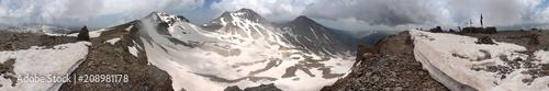 Fotografie, Obraz  Snow covered peaks of Mount Aragats, Armenia