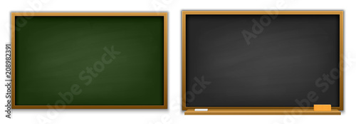 Slika na platnu Creative vector illustration of chalkboard isolated on background