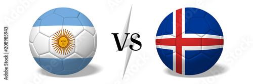 Fotomural Soccer championship - Argentina vs Iceland