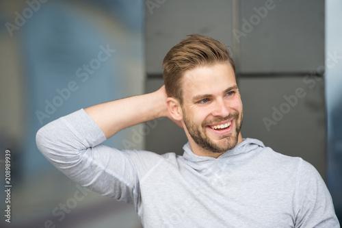 Man confident in his antiperspirant Wallpaper Mural