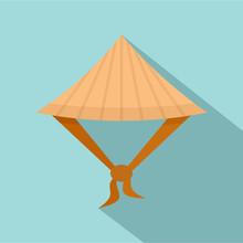Taiwan Conic Hat Icon. Flat Il...