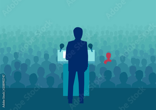 Foto Flat style of politician making speech