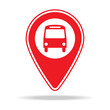 bus station map pin icon. Element of warning navigation pin icon for mobile concept and web apps. Detailed bus station map pin icon can be used for web and mobile