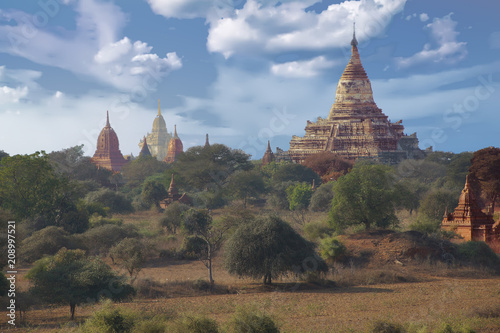 Ancient temples and stupas Poster