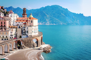 The scenic village of Atrani, Amalfi Coast
