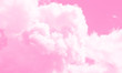 canvas print picture - Cotton candy sky pink background illustration.
