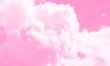 Cotton candy sky pink background illustration.