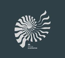 Nautilus Shell. Abstract Desig...