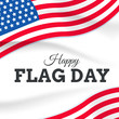 flag day with USA flag vector on white background or banner graphic