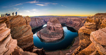 Horseshoe Bend At Sunset Arizona