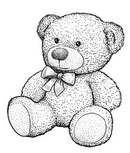 Teddy Bear Illustration, Drawi...