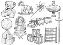 Children Toy Collection, Illus...