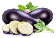 Aubergine Or Eggplant With Aub...