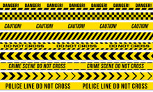 Black And Yellow Stripes Vector Police Tape