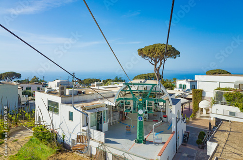 Foto op Canvas Europa Chairlift in Anacapri at Capri Island, Italy