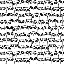 Cute Panda Vector Pattern Back...