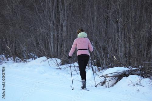 Fotobehang Wintersporten Sport invernali, sci di fondo