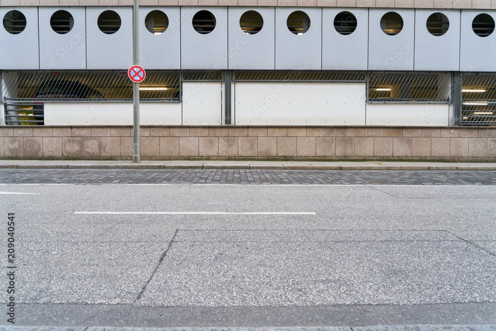 Fototapeta Leere Straße in Stadt