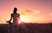 Peaceful Quiet Meditation. Wom...