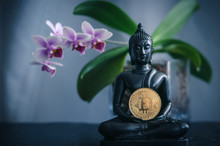 Buddha With Bitcoin