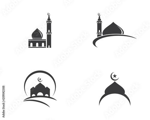 Moslem icon vector Illustration Poster Mural XXL