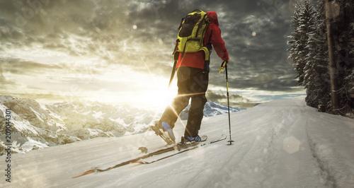 Fotografija  Ski Touring by Sunset