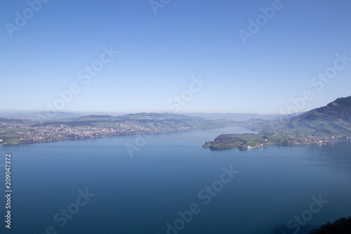 Foto op Aluminium Arctica aerial view of beautiful lake