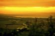 Edinburgh Holyrood park view at sunset Edinburgh Landscape Holyrood panorama at sun down Scotland travel concept