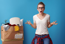 Shocked Woman With An Untidy C...