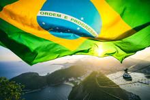 Brazilian Flag Shines Above Th...