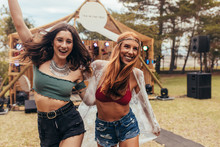Two Cool Girls At Music Festival
