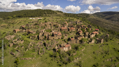 Acrijos abandoned village in Soria province, Spain