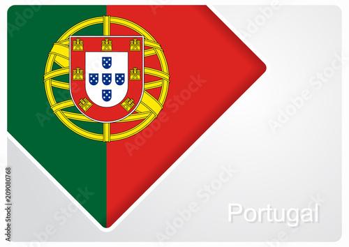 Portuguese flag design background. Vector illustration. Poster