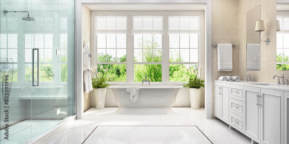 Fototapety, obrazy: großes Badezimmer