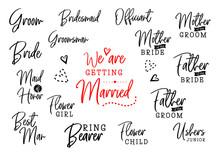 Who Is Who On Wedding Set