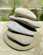 Balanced stack of stones over